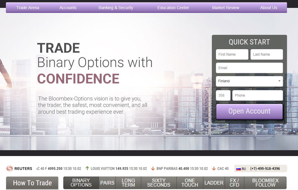 Bloombex binary options review