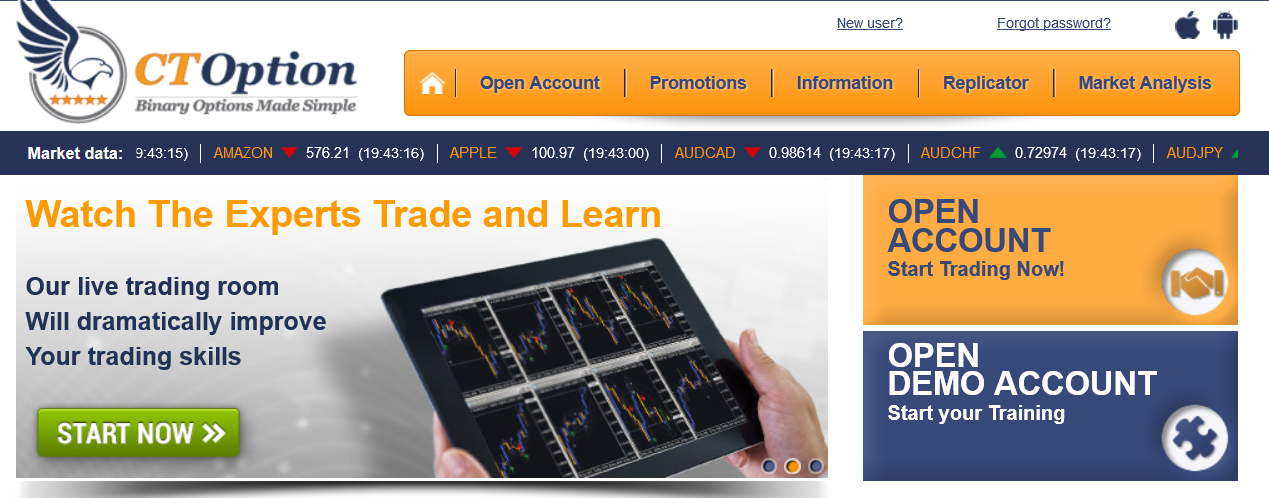 Binary options information center