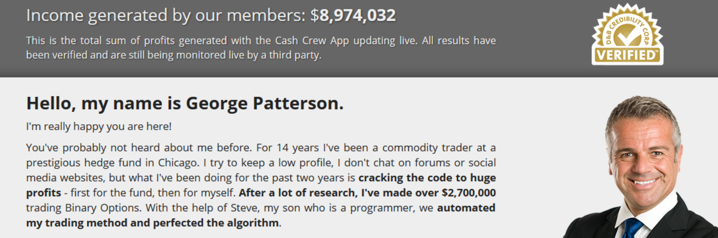 Cash Crew Profit Calculator which starts from 8,948,374 USD every time you refresh the site. So it is not cumulative as they say.