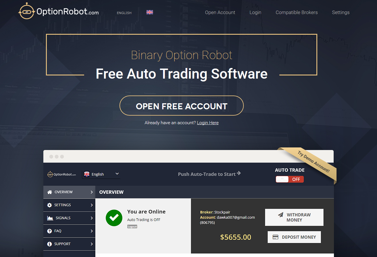 binary option robot sign in india