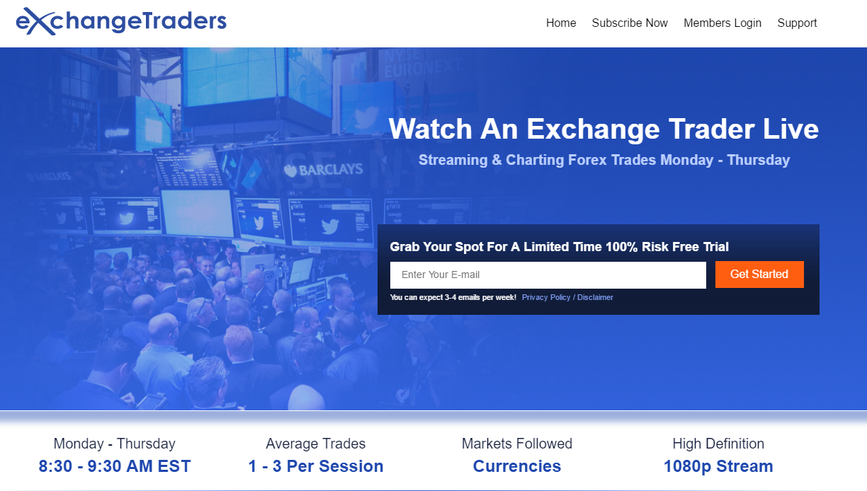 Exhange Traders Main Page